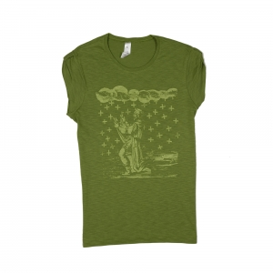 Massimo-Volume-T-Shirt-Donna-Verde-Saint