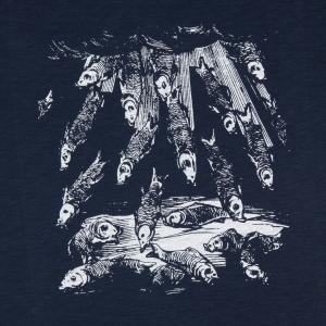 Massimo-Volume-T-Shirt-Uomo-Blu-Fishes