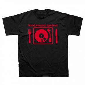 Donpasta-T-Shirt-Uomo-Nera-Food-Sound-System
