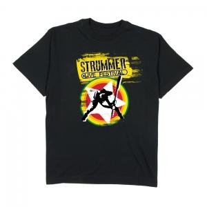 Estragon--T-shirt-Uomo-nera-Strummer-festival