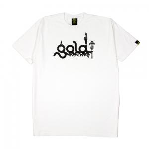 Gold T-Shirt Uomo Bianca Logo Firenze 1