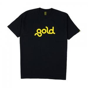 Gold T-Shirt Uomo Nera Logo 1