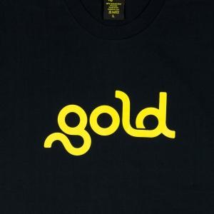 Gold T-Shirt Uomo Nera Logo 2