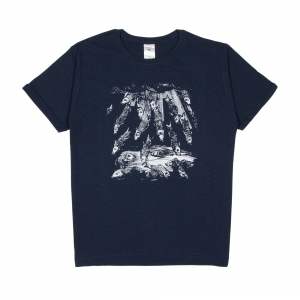 Massimo-Volume-T-Shirt-Uomo-Blu-Fishes