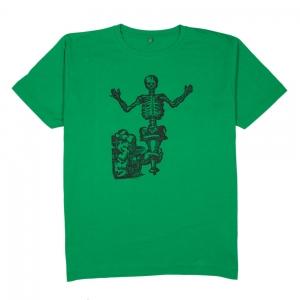 Massimo-Volume-T-Shirt-Uomo-Verde-Bones