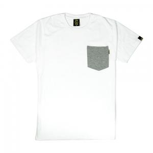 Gold-T-Shirt-Uomo-Bianca-Taschino-Melange-1