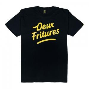 Gold-T-Shirt-Uomo-Nera-Deux-Fritures-1