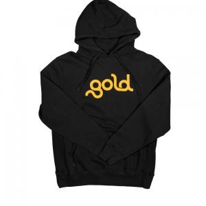 "Gold | Felpa Nera ""Gold Logo"""