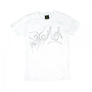 Gold T-shirt -Uomo-Bianca-Handjob
