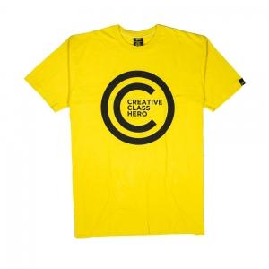Gold T-shirt-Uomo-Gialla-Creative Class