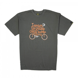 Gold T-shirt-Uomo-Grigia-Ride my bike