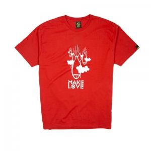 Gold T-shirt-Uomo-Rossa-Make Love