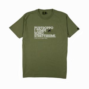Gold-T-shirt--Uomo-Verde-Tempi-strettissimi-1