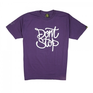 Gold T-shirt-Uomo-Viola-Don't stop