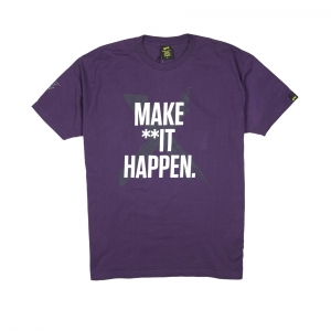 Gold T-shirt-Uomo-Viola-Make shit happen