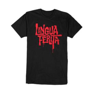 Gold-T-shirt-Uomo-Nera-LucaBarcellona-Lingua-Ferita