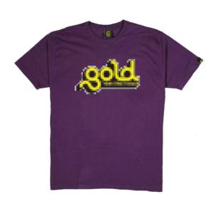 Gold-T-Shirt-Uomo-Nera-PIXEL