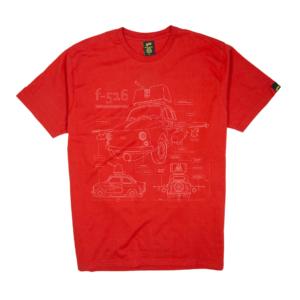 Gold-T-Shirt-Uomo-rossa-F156