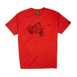 Gold-T-Shirt-Uomo-rossa-war-vespa