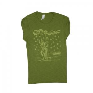Massimo-Volume-T-Shirt-Donna-Verde-Saint