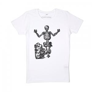 Massimo-Volume-T-Shirt-Donna-Bianca-Bones