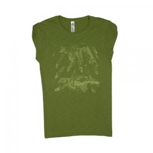Massimo-Volume-T-Shirt-Donna-Verde-Fishes