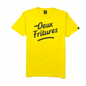 Gold-T-Shirt-Uomo-Gialla-Deux-Fritures-1
