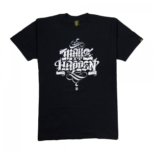 Gold-T-Shirt-Uomo-Nera-Make-It-Happen-1