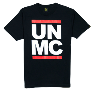 Gold-T-Shirt-Uomo-Nera-UNMC-1
