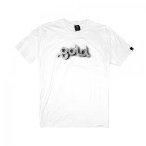 Gold T-shirt-Uomo-Bianca-3d Halftone