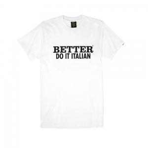 Gold T-shirt-Uomo-Bianca-Better do it italian