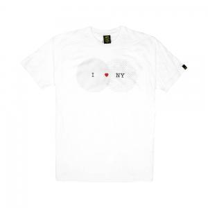 Gold T-shirt - Uomo - Bianca - I Love NY-1