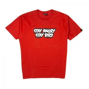 Gold T-shirt-Uomo-Rossa-Stay angry stay bird