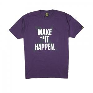 Gold T-shirt-Uomo-Viola-Make shit happen