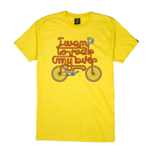 Gold-T-Shirt-Uomo-gialla-ride-my-bike