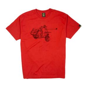 Gold-T-Shirt-Uomo-rossa-war-vespa
