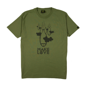 Gold-T-Shirt-Uomo-verde-make-love